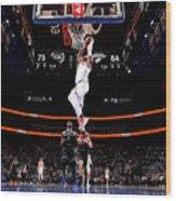 New York Knicks V Detroit Pistons Wood Print