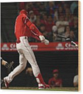 New York Yankees V Los Angeles Angels Wood Print