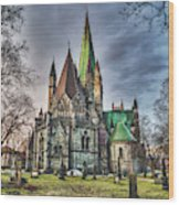 Nidaros Cathedral Wood Print