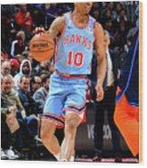 Oklahoma City Thunder V Atlanta Hawks Wood Print