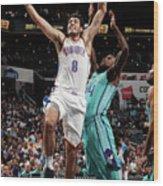 Oklahoma City Thunder V Charlotte Wood Print
