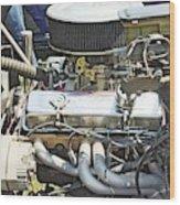 Old Car Engine Wood Print