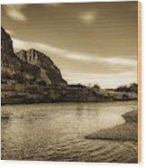 On The Rio Grande River Wood Print