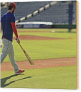 Philadelphia Phillies Bryce Harper Wood Print