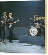 Photo Of Beatles Wood Print
