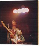 Photo Of Jimi Hendrix Wood Print