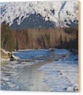 Portage Creek Portage Glacier Highway, Alaska Wood Print
