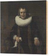 Portrait Of Margaretha De Geer  Wife Of Jacob Trip  Wood Print
