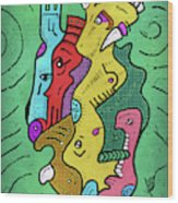 Psychedelic Animals Wood Print