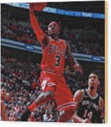 San Antonio Spurs V Chicago Bulls Wood Print