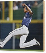 San Diego Padres V Atlanta Braves Wood Print