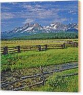 Sawtooth Mountain Range, Idaho Wood Print