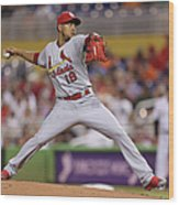 St Louis Cardinals V Miami Marlins Wood Print