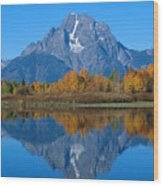 Teton Mountains Wood Print