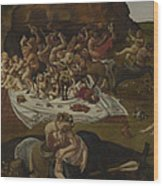 The Fight Between The Lapiths And The Centaurs  Wood Print
