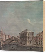 The Grand Canal Above The Rialto  Wood Print