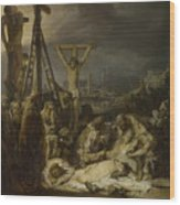 The Lamentation Over The Dead Christ  Wood Print