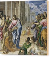 The Miracle Of Christ Healing The Blind  Wood Print
