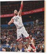 Toronto Raptors V Orlando Magic Wood Print