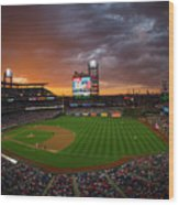 Washington Nationals  V Philadelphia Wood Print