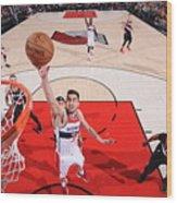 Washington Wizards V Portland Trail Wood Print