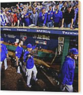 Wild Card Game - Chicago Cubs V Wood Print