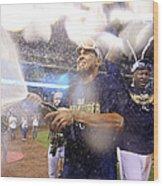 Wild Card Game - Oakland Athletics V 2 Wood Print