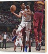New York Knicks V Cleveland Cavaliers Wood Print