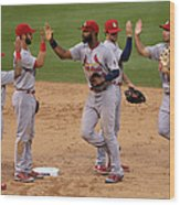 St Louis Cardinals V Colorado Rockies Wood Print