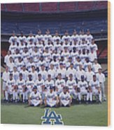 2004 Los Angeles Dodgers Team Photo 2004 Wood Print