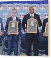 2014 Baseball Hall Of Fame Induction Wood Print
