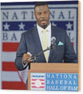 2016 Baseball Hall Of Fame Induction Wood Print