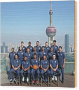 2017 Nba Global Games - China Wood Print