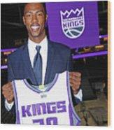 2017 Sacramento Kings Draft Picks Wood Print