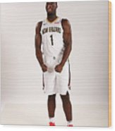 2019-20 New Orleans Pelicans Media Day Wood Print