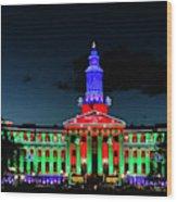 2019 Civic Center Denver Wood Print
