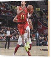 Atlanta Hawks V Cleveland Cavaliers Wood Print