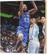 Charlotte Hornets V Orlando Magic Wood Print