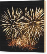 Firework Display Wood Print