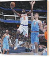 New York Knicks V Sacramento Kings Wood Print