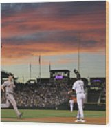 San Francisco Giants V Colorado Rockies 23 Wood Print