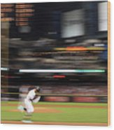 San Diego Padres V Arizona Diamondbacks Wood Print