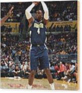 Denver Nuggets V Los Angeles Lakers Wood Print