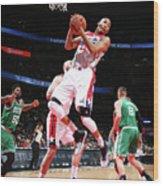 Boston Celtics V Washington Wizards Wood Print