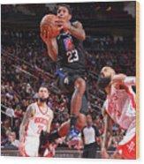La Clippers  V Houston Rockets Wood Print