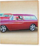 3 - 1955 Chevy's Wood Print