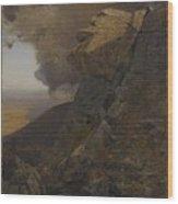 A Cliff In The Katskills Wood Print