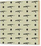 Ak-47 Pattern Wood Print
