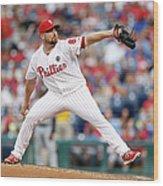 Atlanta Braves V Philadelphia Phillies Wood Print