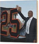 Barry Bonds San Francisco Giants Number Wood Print